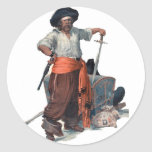 Pirate And Treasure Round Sticker