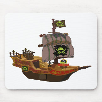 Pirate Andy on a Ship Mousepad