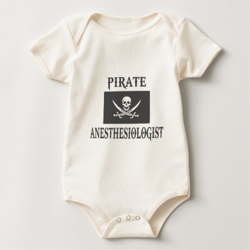Pirate Anesthesiologist Baby Bodysuit
