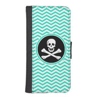 Pirate; Aqua Green Chevron Phone Wallet Cases