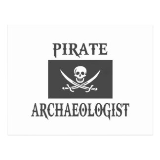 Pirate Archaeologist Postcard