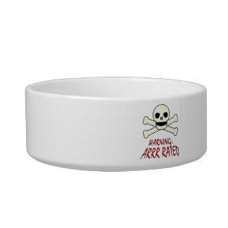 Pirate Arrr Rated Pet Water Bowl