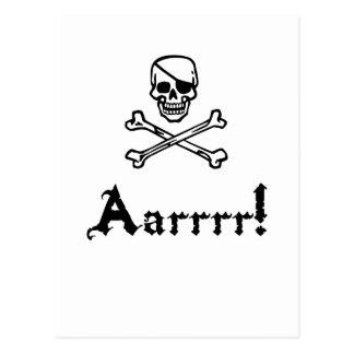 Pirate Arrrr Postcard
