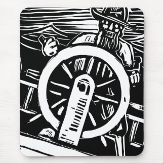 Pirate at the Helm Mouse Pad