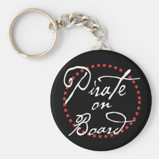 Pirate at the Wheel Keychain