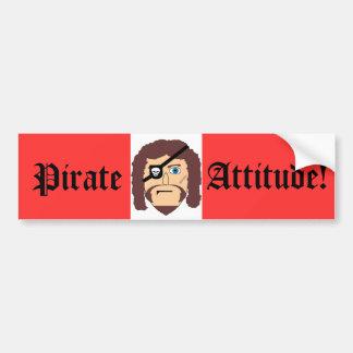 Pirate, Attitude! Bumper Sticker