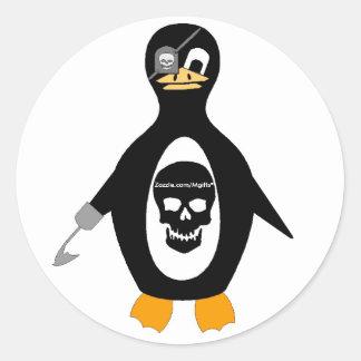 Pirate Attitude Classic Round Sticker
