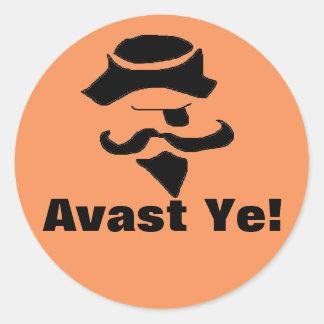 """pirate """"Avast Ye"""" stickers"""
