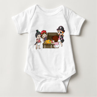 Pirate Babies Baby Bodysuit