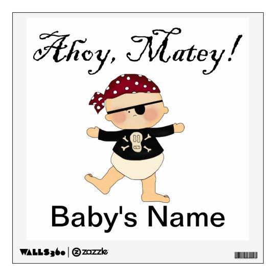 Pirate Baby - Ahoy, Matey! Wall Sticker