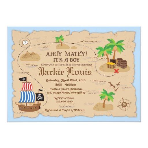 Pirate Baby Shower Invitation