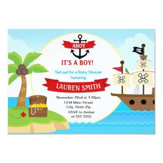 Pirate Baby Shower Invitation 5x7 Card
