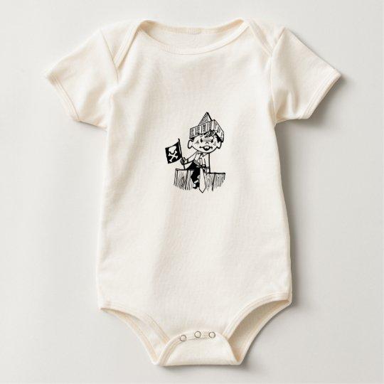 Pirate Baby's Poop Deck Baby Bodysuit