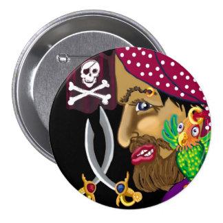 Pirate badge pinback button
