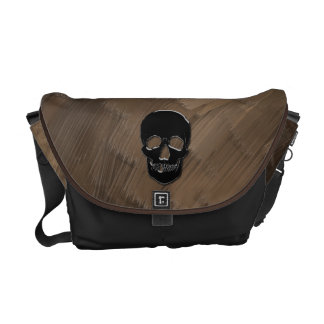 Pirate Bag - Onyx Skull Courier Bags
