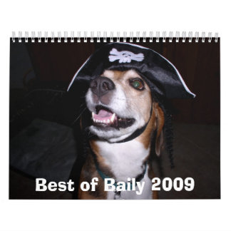 Pirate Baily, Best of Baily 2009 -... - Customized Calendar