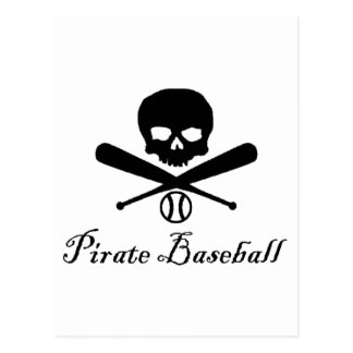 Pirate Baseball Postcard