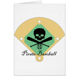 Pirate Baseball w/ Field Background Card