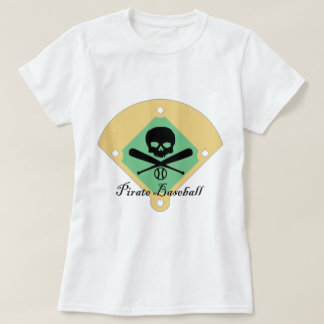 Pirate Baseball w/ Field Background T-Shirt