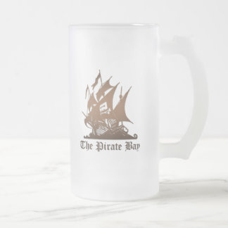 Pirate Bay, Illegal Torrent Internet Piracy Frosted Glass Beer Mug
