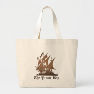 Pirate Bay, Illegal Torrent Internet Piracy Large Tote Bag 105b913e65