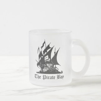 Pirate Bay, Illegal Torrent Internet Piracy 10 Oz Frosted Glass Coffee Mug