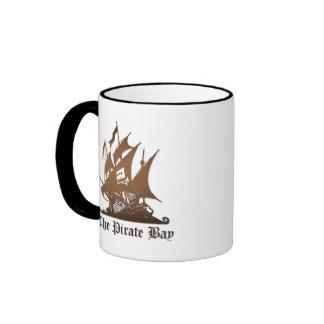 Pirate Bay, Illegal Torrent Internet Piracy Ringer Coffee Mug