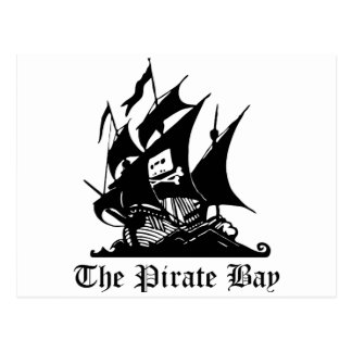Pirate Bay, Illegal Torrent Internet Piracy Postcard