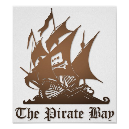 Pirate Bay, Illegal Torrent Internet Piracy Poster