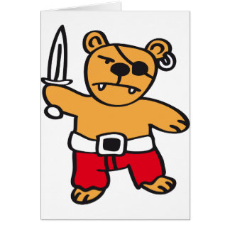 Pirate bear card
