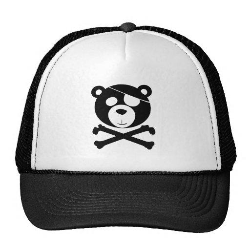 pirate bear mesh hat