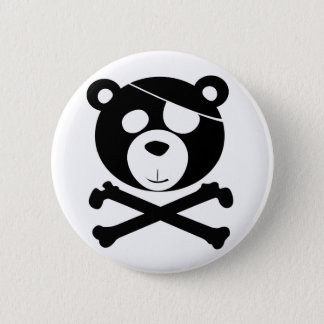 pirate bear pinback button