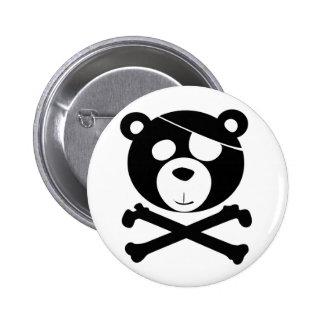 pirate bear pinback button