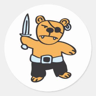 Pirate bear stickers
