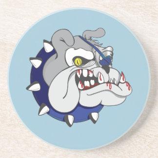 Pirate Beastly Bulldog Zombie Beverage Coasters