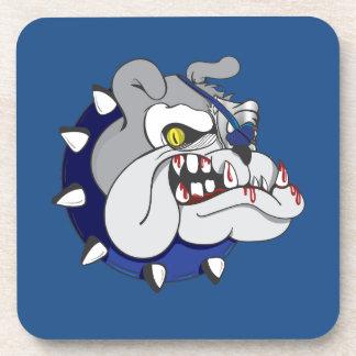 Pirate Beastly Bulldog Zombie Coasters