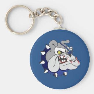 Pirate Beastly Bulldog Zombie Keychain