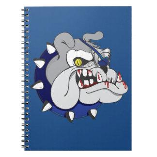 Pirate Beastly Bulldog Zombie Spiral Notebook