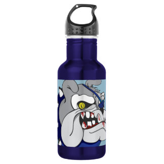 Pirate Beastly Bulldog Zombie Stainless Steel Water Bottle