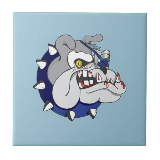 Pirate Beastly Bulldog Zombie Small Square Tile