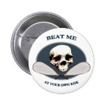 Pirate Beat Me Racquetball 2 Inch Round Button