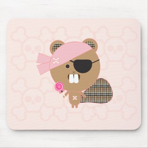 Pirate Beaver Mouse Pad