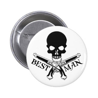 Pirate Best Man Button