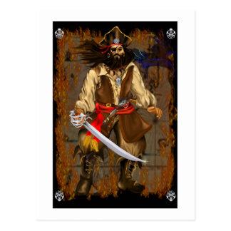 Pirate-Big and Bad Postcard