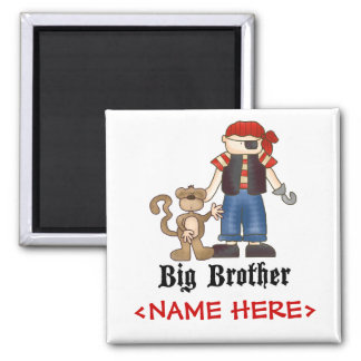 Pirate Big Brother 2 Inch Square Magnet