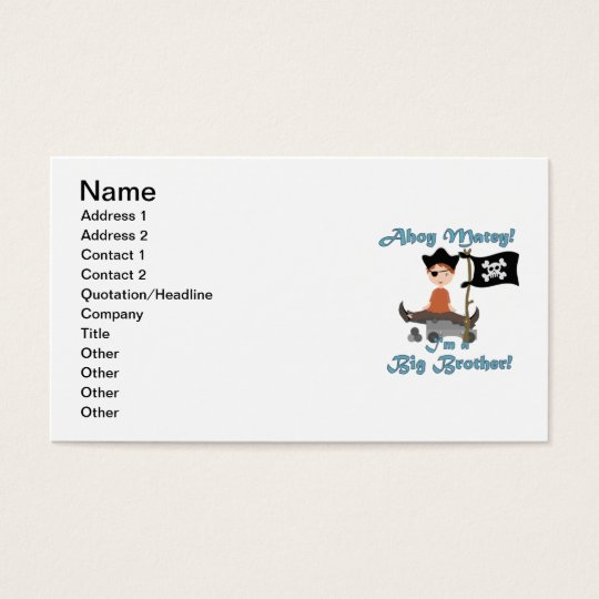 Pirate Big Brother Business Card