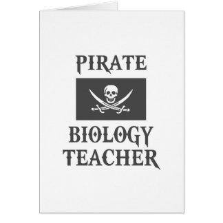 Pirate Biology Teacher Greeting Cards