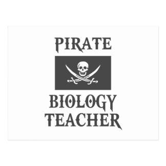 Pirate Biology Teacher Postcard