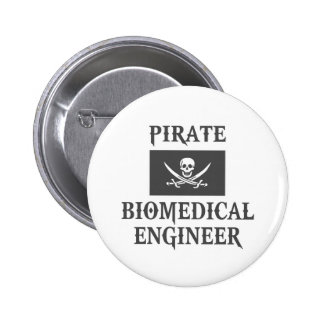 Pirate Biomedical Engineer Pinback Buttons