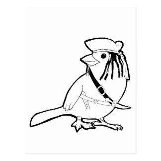 Pirate Bird Postcard